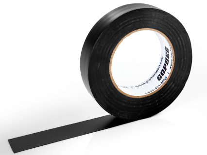 "Deluxe Vinyl Floor Tape - 180'L x 1""W, Black"