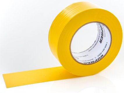"Deluxe Vinyl Floor Tape - 180'L x 2""W, Yellow"