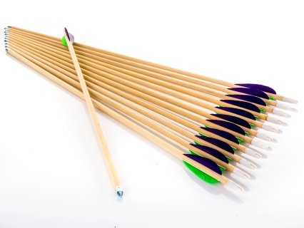 Standard Hardwood Arrows with Feather Fletching