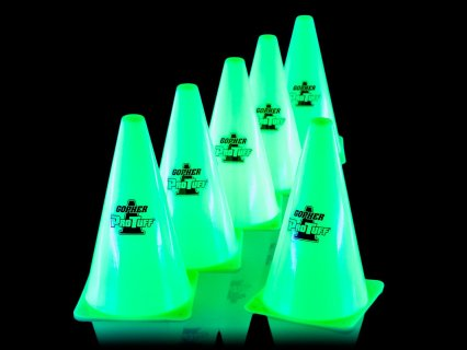 Glowing cones maximize safety and fun