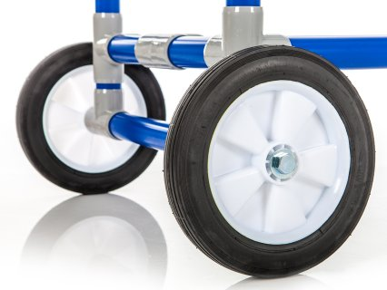 All-terrain wheels offer easy transportation