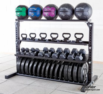 Fully-loaded Armory™ Rack with Equipment
