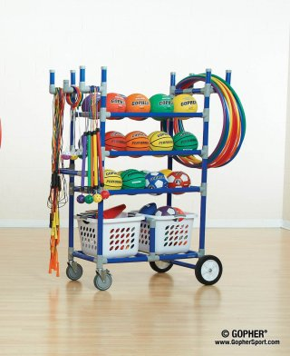 Full storage cart with recess equipment