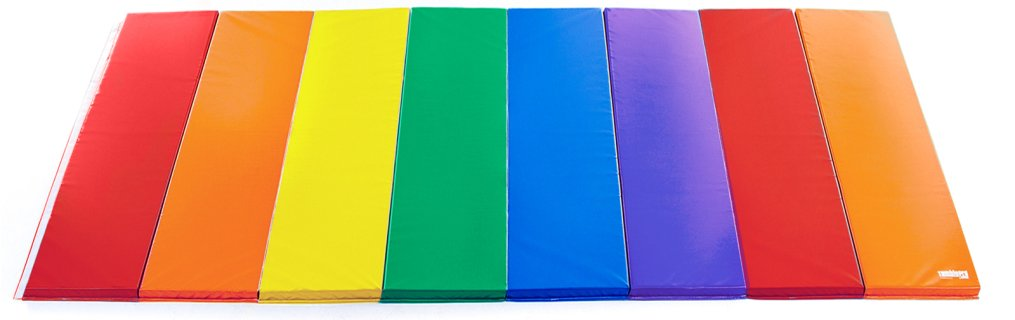 Tumblepro Polyethylene Foam Rainbow Advanced Tumbling Mat