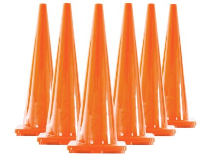 "Vinyl Cone - 36""H, Orange- Set of 6"