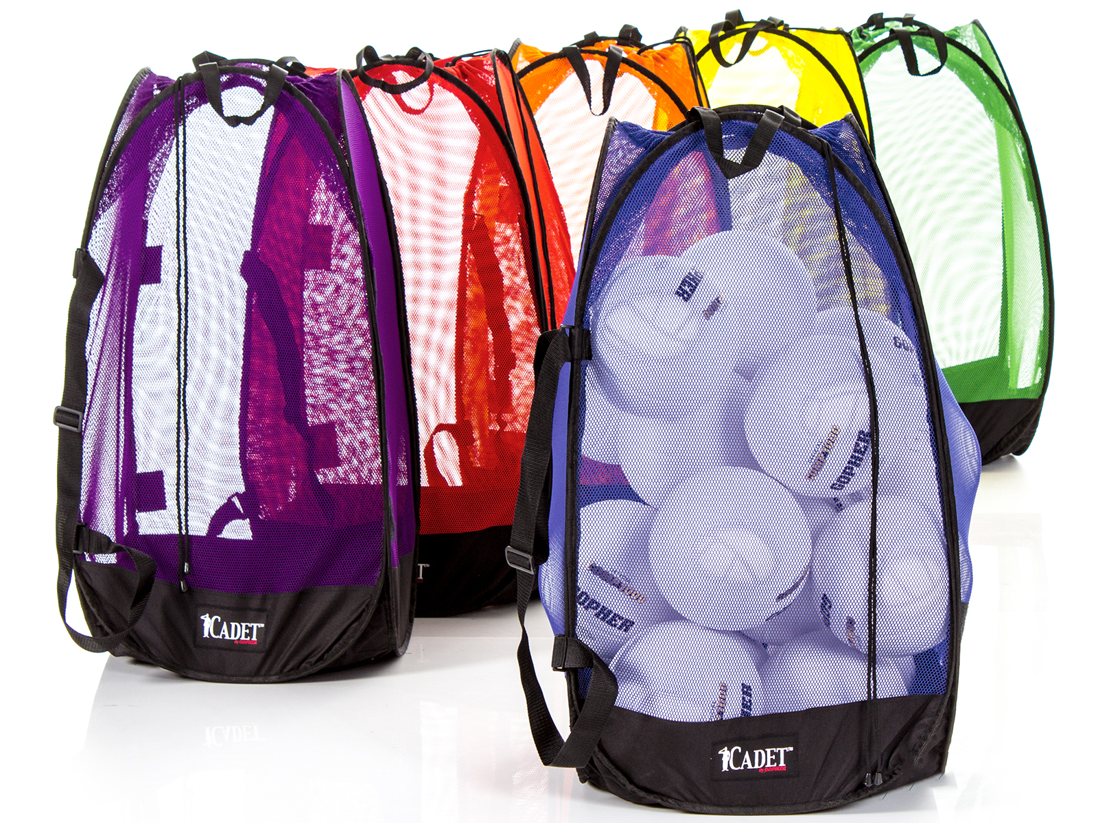 "Rainbow Cadet Stand Up Mesh Bag - Medium (36""H x 18"" sq), Set of 6"