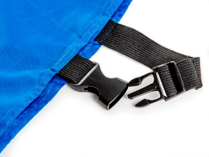 "3/4"" thick elastic closure straps with reinforced stitching for durable, easy adjustment"