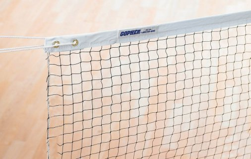 Close up mesh badminton net