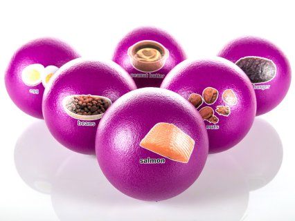 NutriPlay Coated Foam Food Group Balls, Protein Set