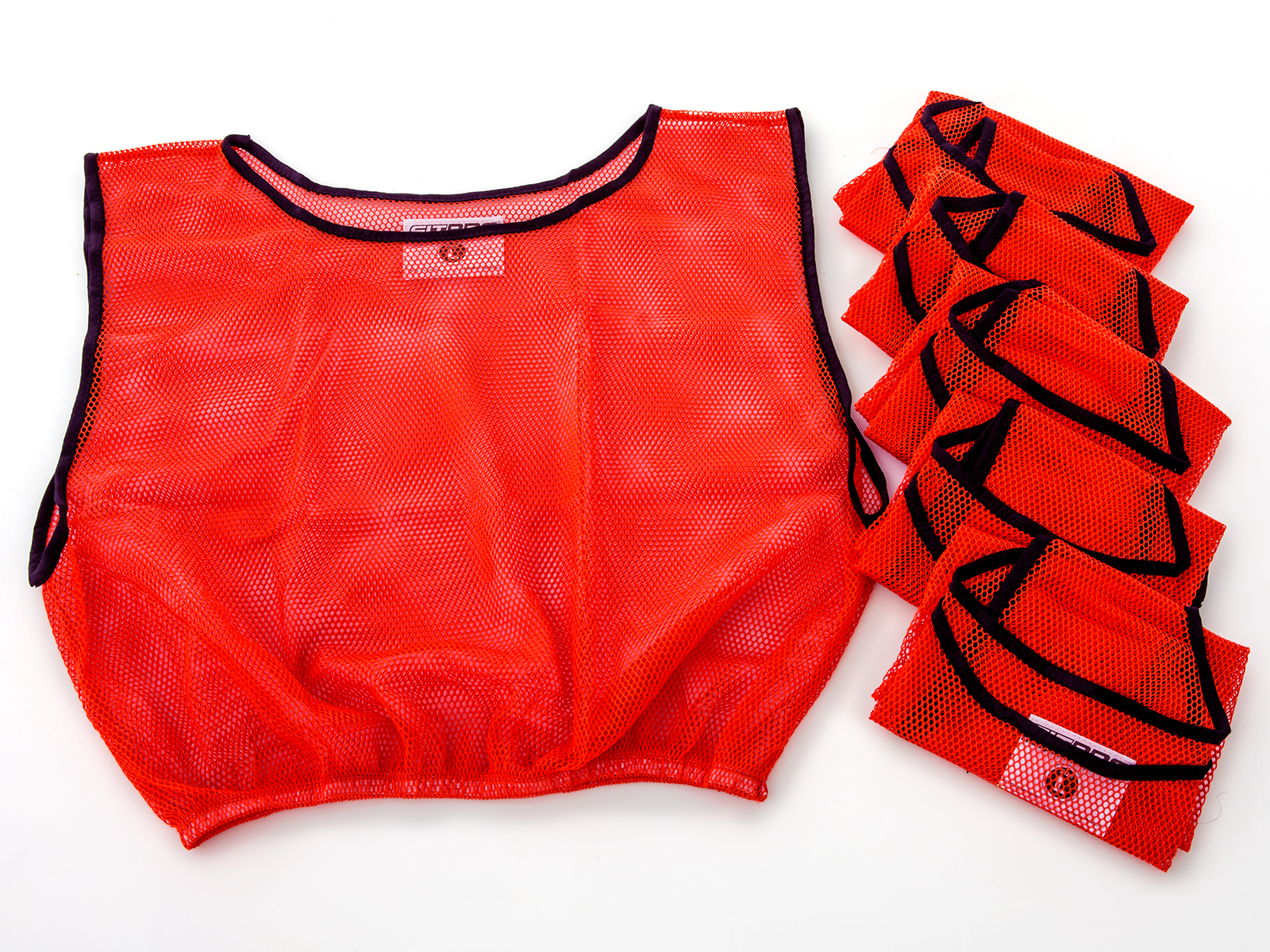 Set of screamin' red pinnie vests