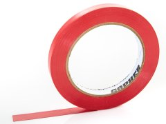 "Deluxe Vinyl Floor Tape - 108'L x 1/2"" W, Red"