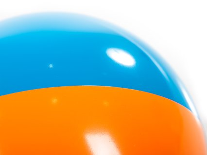 CLose up of beach ball