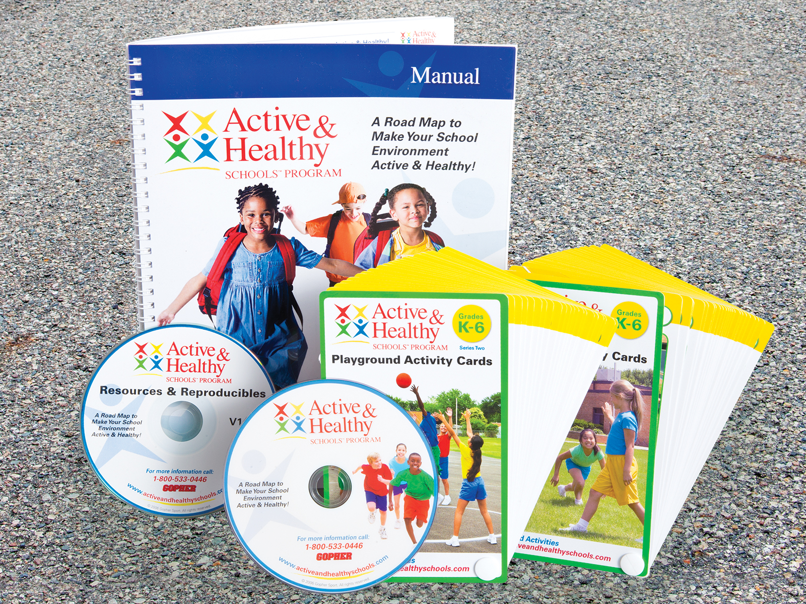 Playground pack manual, dvds and activity cards