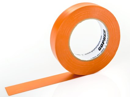 "Deluxe Vinyl Floor Tape - 180'L x 1""W, Orange"