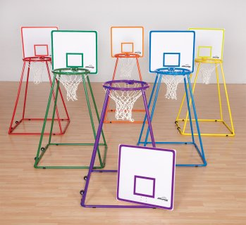 Put together alleyoop rainbow colored nets