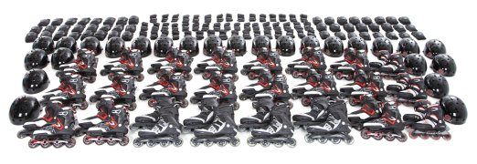 Large 24-student class set of inline skates