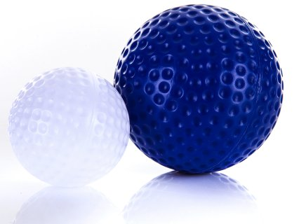 Large golf balls are easy to track