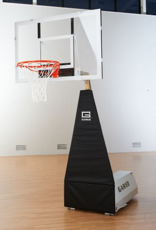 Aluminum framed basketball hoop in the low height