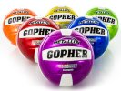 Rainbow set of official metalic volleyballs