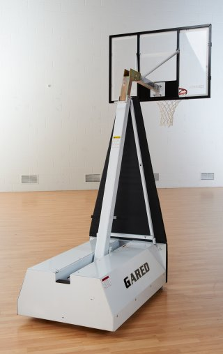 Back view of portable basketball hoop