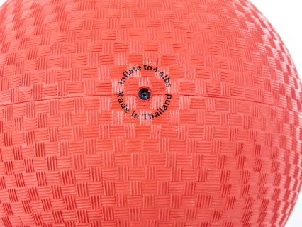 Inflation hole in red kickball