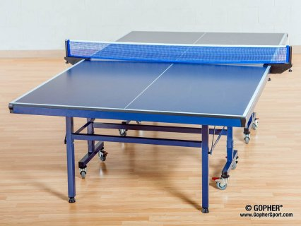 Angled view of advantage 100 table tennis table