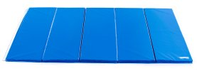 Royal blue 5 ft by 10 ft intermediate mat with 2 velcro sides