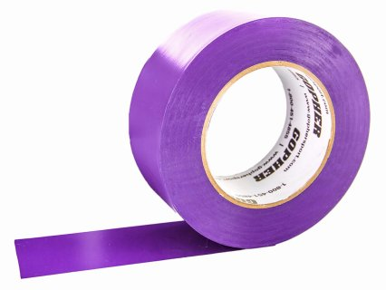 Deluxe Vinyl Floor Tape - 180'L x 3''W, Purple