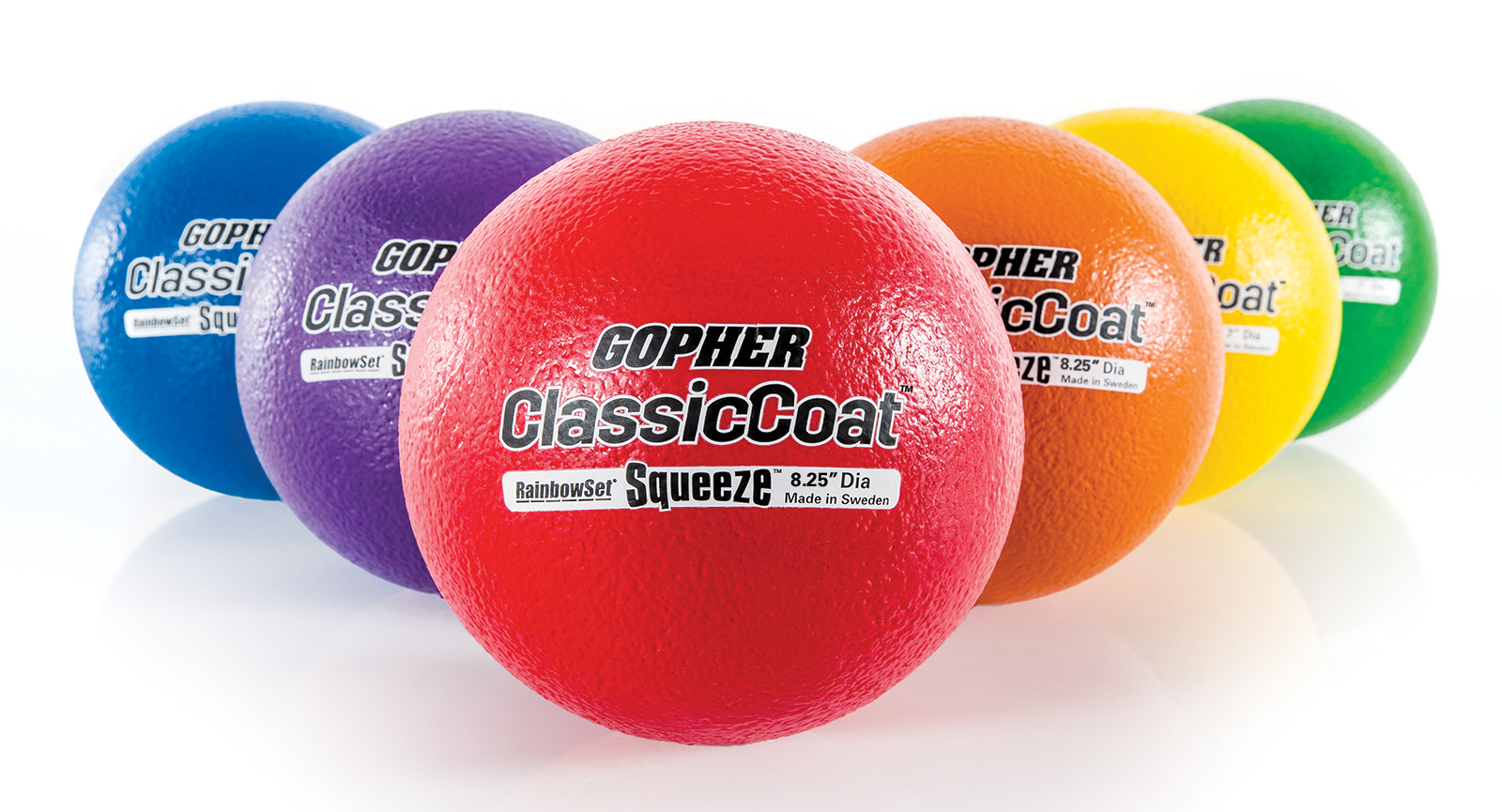 "Rainbow Premium Coated SoftiBalls - 8.25"" dia, Set of 6"