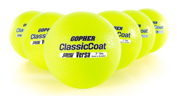 "Screamin' Yellow Playball Coated-Foam Balls - 7"" dia, Set of 6"