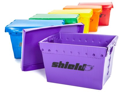 Rainbow Shield Storage Bins