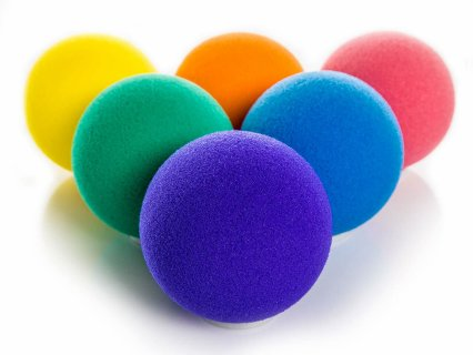 Rainbow® Low-Bounce Foam Balls