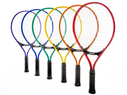 Gopher Rainbow Midsize Jr Aluminum Tennis Racquets