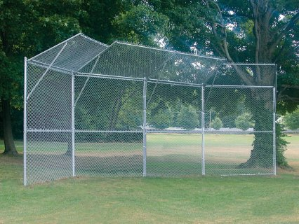Permanent Chain-Link Backstops