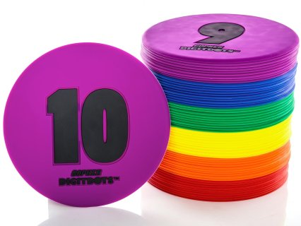 "Rainbow® Numbered 9"" Vinyl Spots"