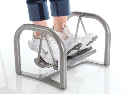 Both feet swing together for added convenience