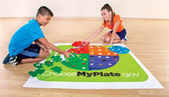 Nutrition plate puzzle