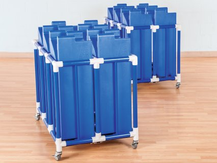 Barrier walls in movable cart
