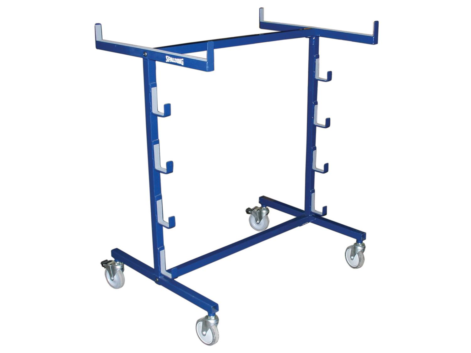 Holds 4 uprights, padding, nets, and a referee platform, 63 lb