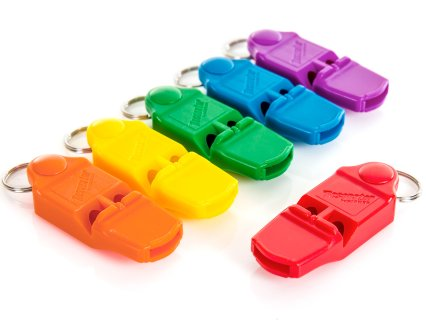 Rainbow Resonator Pealess Whistles - Set of 6