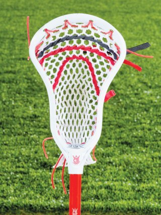 Net of clutch rise lacrosse stick