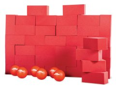 Block 'Em Blocks - Red, Set of 36