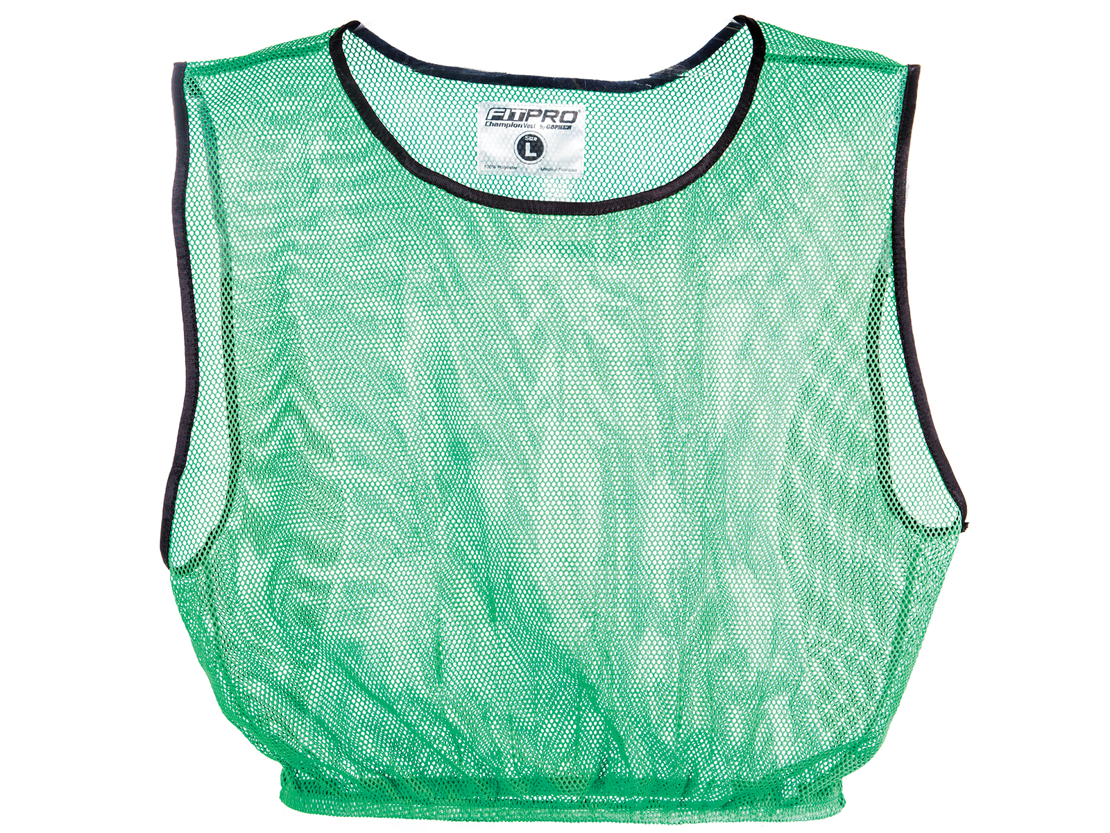 Green mesh polyester pinnie vest