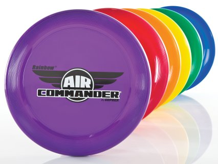 Rainbow set of air commander frisbees