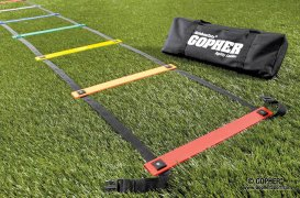 Rainbow agility ladder and storage bag