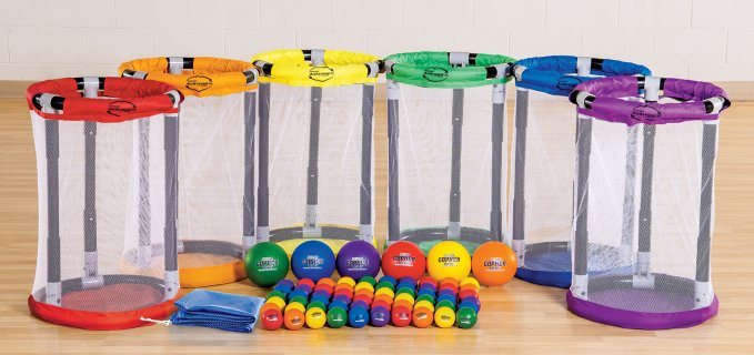 Rainbow set of all-around goals and balls