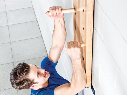 Peg board climbers are a great alternative to pull up bars.