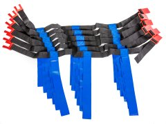 MagnePro Flag Belt System - 6 Player Blue Flags, XL