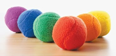 Rainbow set of fleece balls