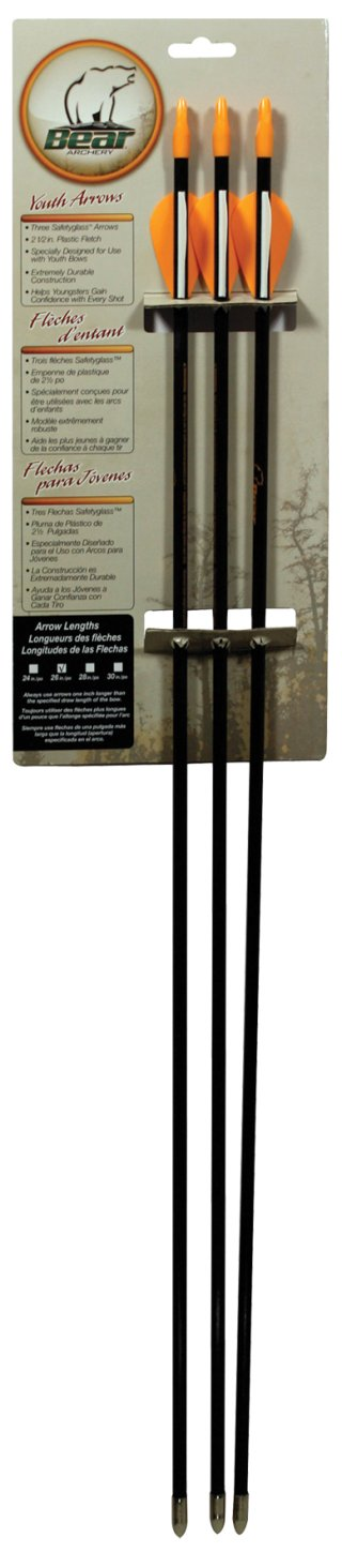 Bear Fiberglass Arrows with Plastic Vanes